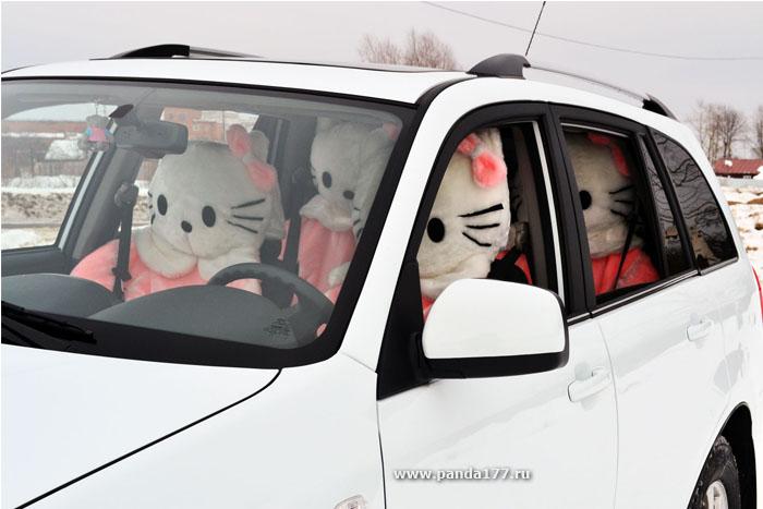 Автомобильный чехол Китти фото 2